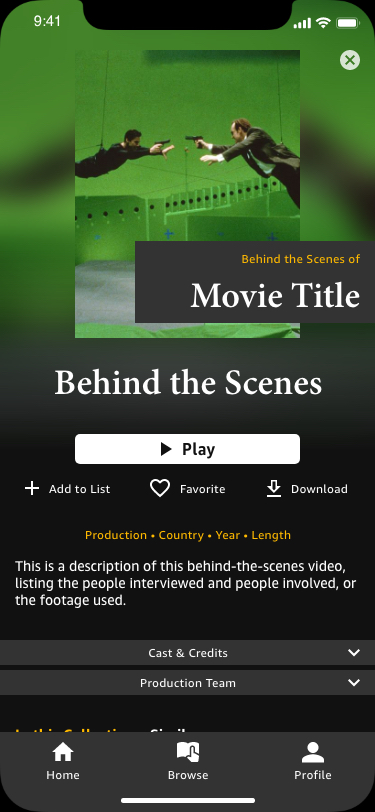 Behind the Scenes Content Page